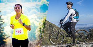 Correr ou andar de bicicleta