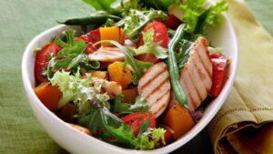 Salada de frango - receita fitness